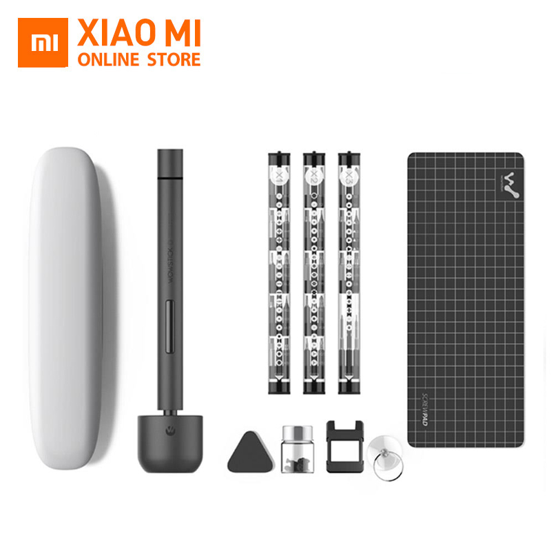 Xiaomi Wowstick 1F+ 1F Pro Mini Electric Screw Driver Set Bits Toolkit Alloy Body LED Light for Phone Laptop Digital ProductsXiaomi Wowstick 1F+ 1F Pro Mini Electric Screw Driver Set Bits Toolkit Alloy Body LED Light for Phone Laptop Digital Products