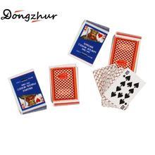 Dongzhur миниатюрный кукольный домик, модель покера, 1:12 кукольный домик, мини кукольный дом, аксессуары, прекрасная бумажная модель, покер, 4 комплекта, кукольный домик