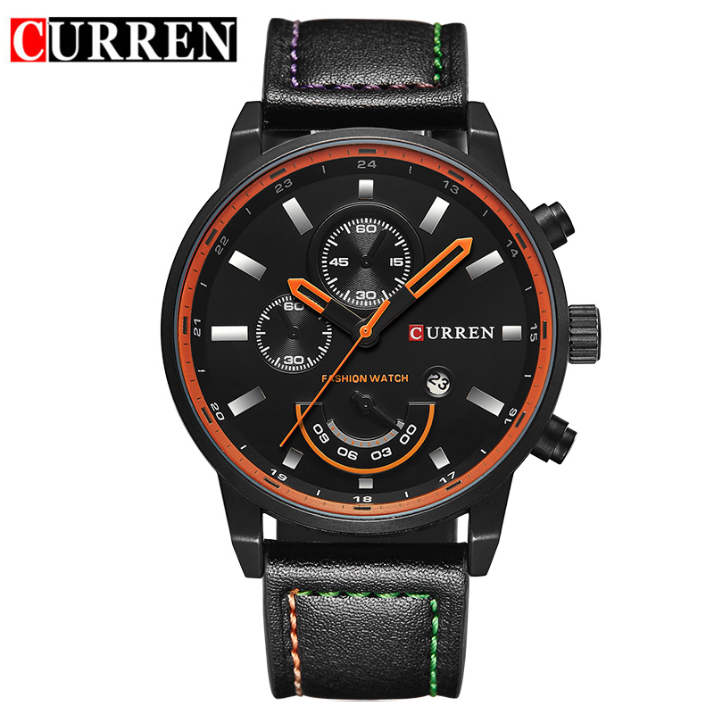 CURREN watch for men brand quartz-watch Men's Round Dial Analog Watch with Date Display 8217 nabu watch