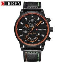 CURREN montre pour hommes de marque quartz-montre Hommes Cadran Rond Montre Analogique avec Affichage de la Date 8217