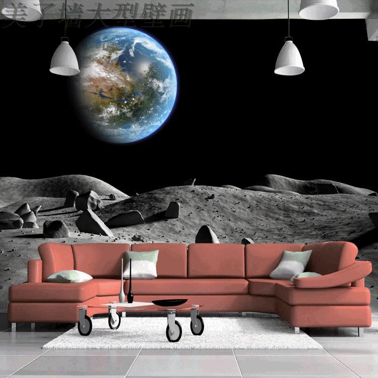Пользовательские 3D стерео росписи современный дизайн Луны и космоса обои гостиной Ресторан фрески обои