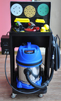 Dustless Sistema para Automóvel Sem Pó Seco Moinho Pneumático de Moagem a Seco de Absorção de Poeira e Máquina de Polir