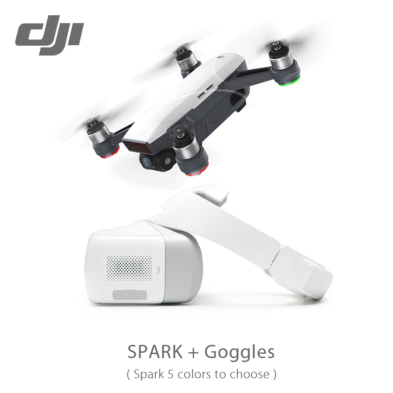 New In Stock DJI Spark & Goggles & Fly more combo Drone Pocket Selfie Drone WiFi FPV With 4K HD Camera