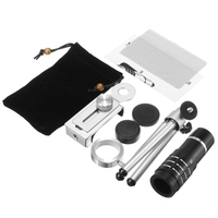Fish eye Wide Angle Macro lenses Phone Camera Lentes Kit HD 12x Telephoto Zoom Lens Telescope For iPhone 4 5 5C 5S SE 6 6S 7
