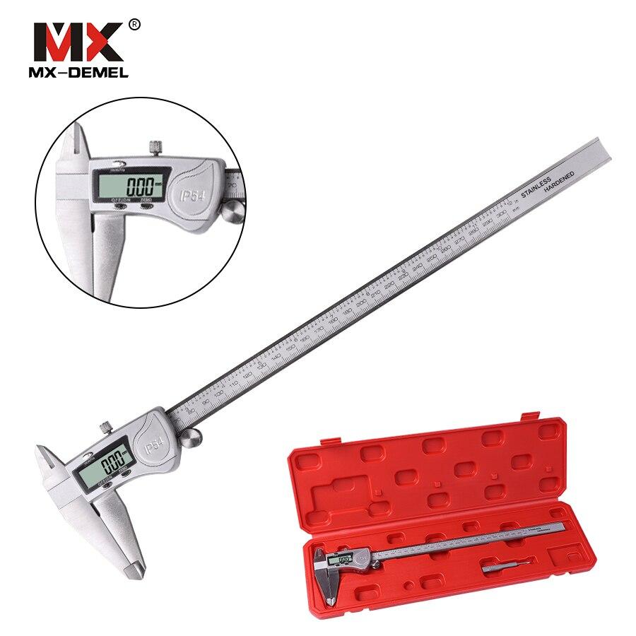 MX-DEMEL IP54 0-150/200/300mm di Protezione Elettronica Calibro Digitale Pinza In Acciaio Inox di Alta PrecisionMeasuring Strumento