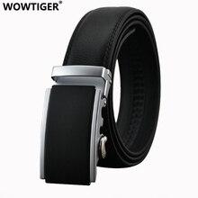 WOWTIGER Belt New Male Designer 3 5cm black Automatic Buckle Cowhide Leather men belt Luxury belts