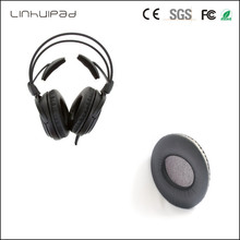 Linhuipadpad 1 pairs Protein leather Replacement Cushion Ear Pads For Audio Technica ATH A500 A500X A700 A900 A950LP headset