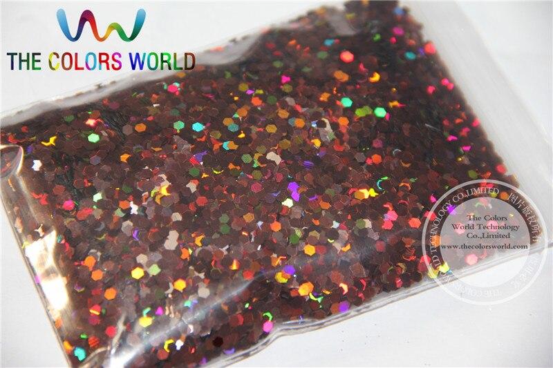 2 мм голографическая кофейная расцветка блестки разбрызгивающие Блестки для дизайна ногтей и других аксессуаров DIY