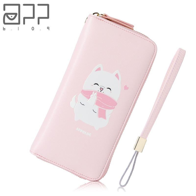 APP BLOG Brand Original Cute Cat Women's Wallet Coin Purse 2017 Wallets Clutch Phone Bag Carteira Feminina Mujer Girl Female