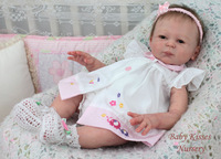 NPKCOLLECTION soft silicone vinyl Reborn Babies Dolls Kits lifelike real touch unpainted Rated doll reborn