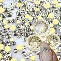 STZ 1 caja de Cristal Shinning Diseños Nuevo Oro 120 unids hotfix Flatback Rhinestones Del Clavo 3d Nail Art Decoraciones de Cristal piedra ND283