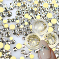 STZ 1box Crystal Shinning Designs New Gold 120pcs Non hotfix Flatback Nail Rhinestones 3d Nail Art Decorations Glass Stone ND283