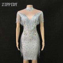 2 Silver Prom Dress