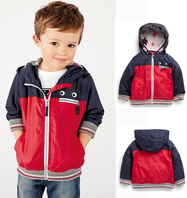 58fe0ef1d Spring Autumn Next Baby Kid Jacket Waterproof Windproof Boy Hooded ...