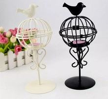 2pcs Iron Ball Birds Candle stick Candleholder TeaLight Holder Wedding Home Decor