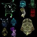 NEW Pokemons Star Wars Princess Lisa 3D Lamp LED Night Light USB Skull Colorful Acrylic Kid Baby Deco Christmas Gifts Present