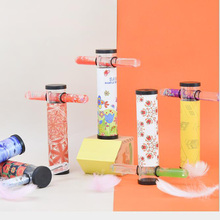 Creative Toys Colorful Kaleidoscope Variety Cartoon Small Fresh Acrylic Quicksand Cross Shape Puzzle Childrens Toy