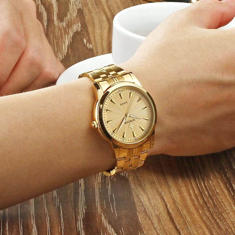 Top brändi luksus meeste veekindel roostevabast terasest kuld kellad - Meeste käekellad - Foto 5