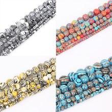 4489a8d3965f Cuentas de piedra malaquita de alta calidad cuentas espaciadoras sueltas para  hacer joyas 4 6 8 10 12mm 15   pulsera y collar DI.