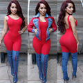 2017 Summer New Arrival Regular Casual Fashion V-Neck Sexy Rompers Womens Jumpsuit for Women Black Red Green Colors Jumpsuit