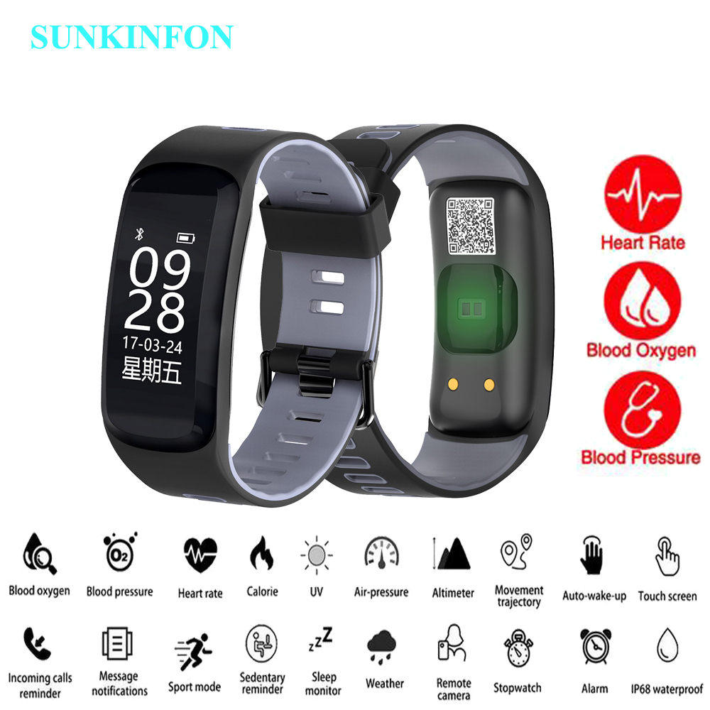 SKF-F6 Bluetooth Smart Band Wristband Heart Rate Tracker Blood Pressure Oxygen Fitness Bracelet IP68 Waterproof GPS Smart Watch bearing skf каталог pdf
