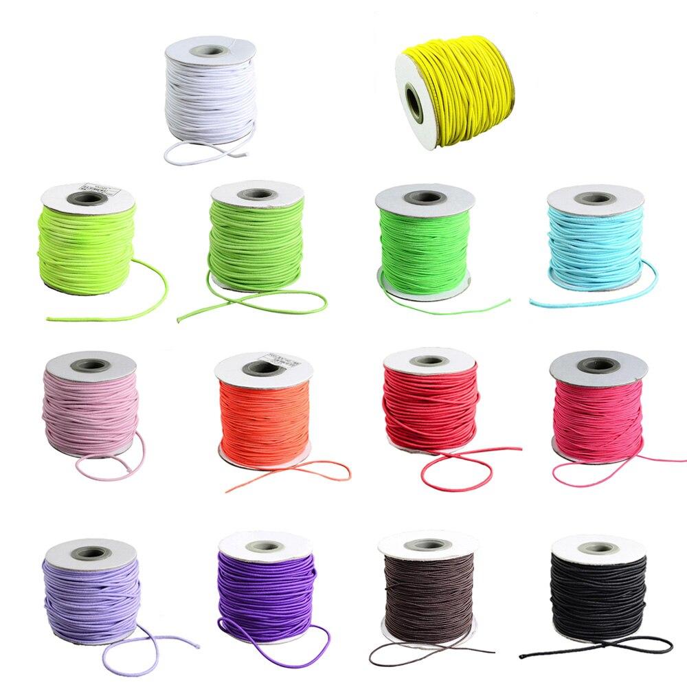 5mm Cuerda Elástica Banda Elástico suave cubierta de cara plana cadena de choque para coser