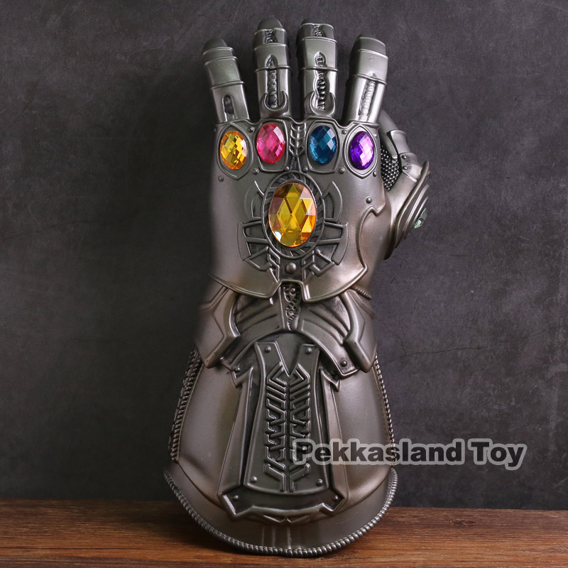Marvel Avengers Infinity Guerra Infinity Gauntlet HA CONDOTTO LA Luce Thanos Guanti Cosplay Action Figure Giocattoli 1:1