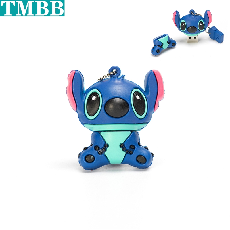 New Fashion USB Flash Drive 64GB 32GB 16GB 8GB 4GB 128GB Cartoon Stitch Pen Drive Flash Card Memory Stick Lovely U Disk Pendrive