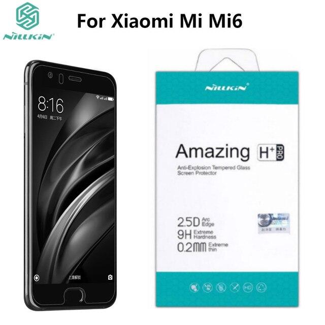 Xiaomi mi mi6 película protetora de tela, nillkin h + pro anti explosão, tela de vidro temperado protetora para xiaomi mi6 película de vidro