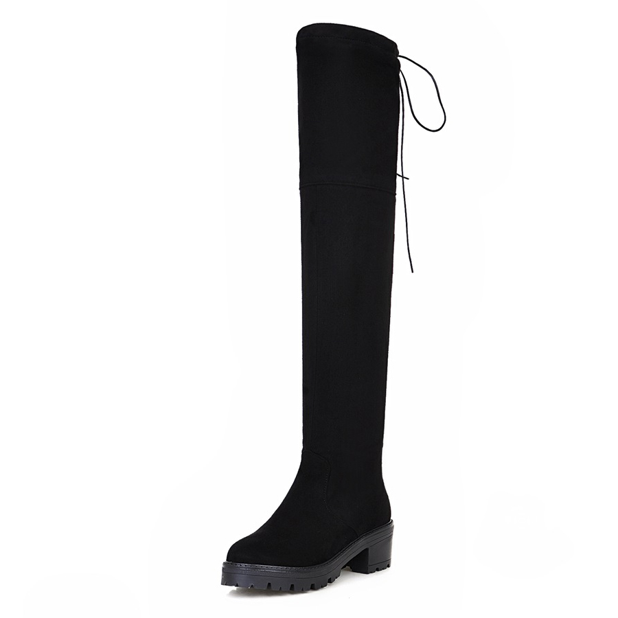 Popular Suede Thigh High Platform Boots-Buy Cheap Suede Thigh High ...