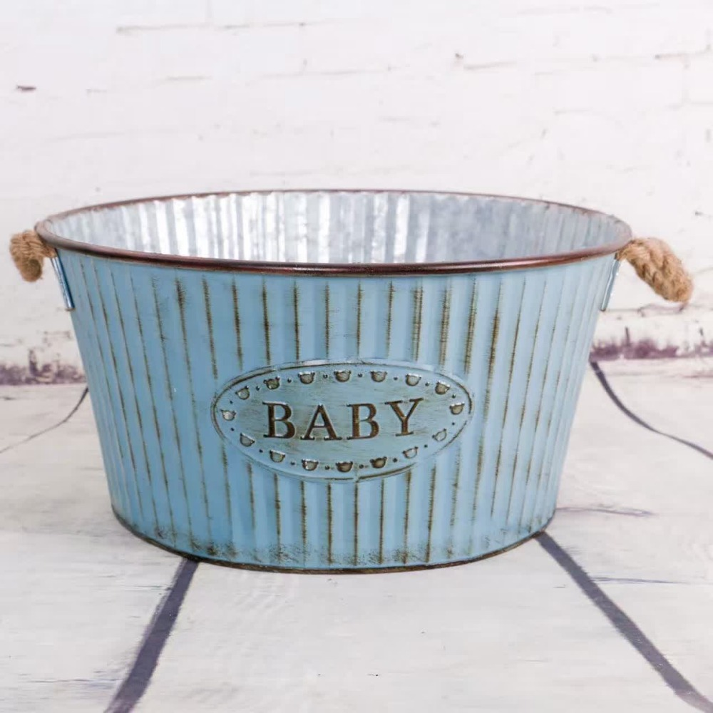 2017 newborn bucket baby posing tub brand photo prop vintage infant iron box bowl baby seats. Black Bedroom Furniture Sets. Home Design Ideas