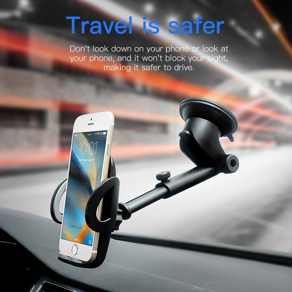 !ACCEZZ Car Phone Holder For iphone X 8 7 XR XS MAX Huawei Samsung Xiaomi Universal Car Gravity Sucker Smart Phone Stand Bracket (7)