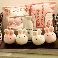 1PC 50CM Baby Cute Soft Pig Pudding Plush Doll Kid Lovely 8 Rabbit Pudding In Bag Stuffed Toy Kid Hand Doll Child Gifts