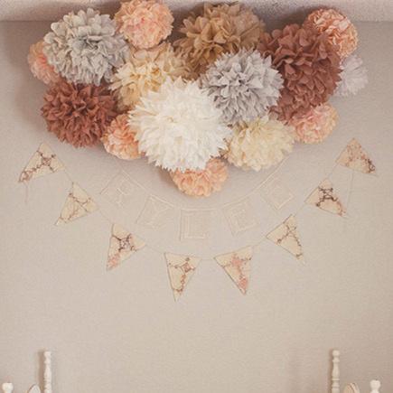 10pcs  10″ / 25cm Tissue Paper Pom Poms Flower Balls Wedding Party Tissue Paper pompoms Wedding Party Decoration Craft  Flower