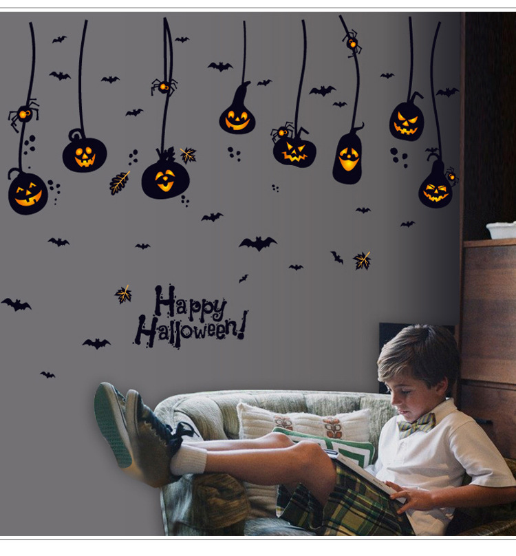 Home Decor Halloween Pumpkin Charm Removable Wall Stickers Art Vinyl Decal Home Room Decor wall sticker Home Decor