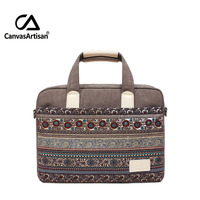 Band new 14 '' retro style canvas bag unisex handbags business notebook briefcase for laptop 14 inch apple laptop bags