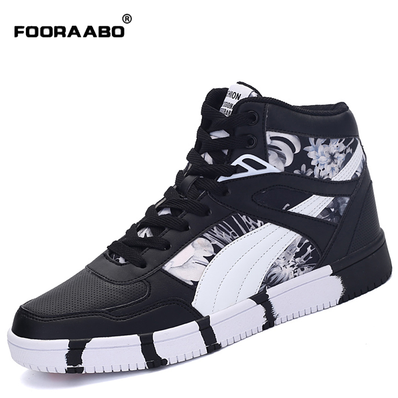 2017 New Mens Casual Shoes Flats Autumn Luxury Breathable Unisex Hip Hop High Top Flats Shoes PU Leather Shoes Zapatilla Hombre gran epos 2017 new mens casual shoes man flats breathable fashion low high top shoes men hip hop dance shoes for male zapato