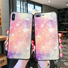 Luxury Gold foil Starry Sky Case For Xiaomi Mi 9 SE Soft TPU Cover mi 8 Lite 6x A2 mi9 cases Capa Glitter Coque