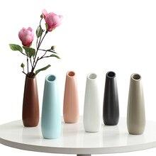 Classic white blue pink brown Khaki black gray Ceramic Vase Desktop Table Creative Gift Household Decoration Vases