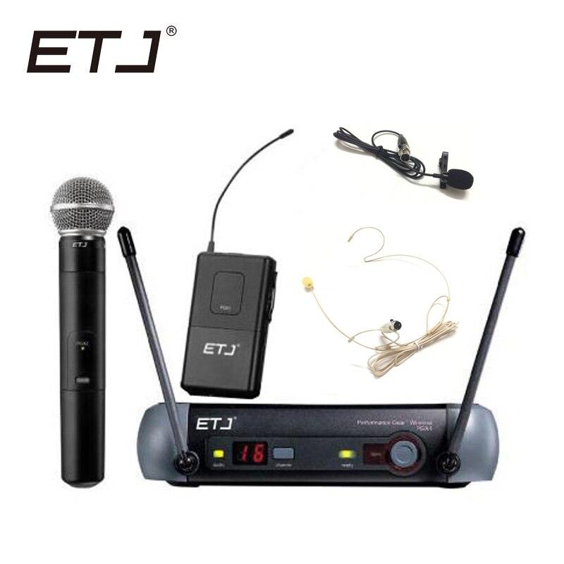 все цены на ETJ Brand UHF Professional Wireless Microphone System PGX24/BETA58 PGX14 PGX4 PGX2 MIC for STAGE without case!Normal box
