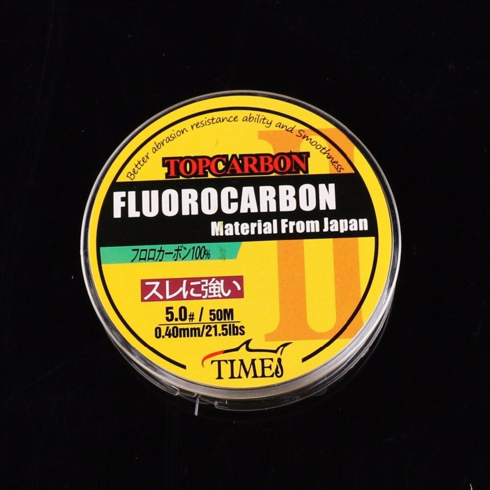 50m 4.4-35.2LB Fluorocarbon vislijnen Hoge kwaliteit koolstofvezel - Visvangst - Foto 4