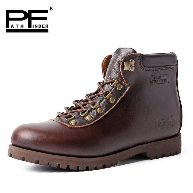Pathfinder Alta Qualidade Sapatos Masculinos de Couro de Vaca Marca Lazer Martin Barcos Barcos Original Design Retro Sapatos para Homens