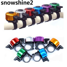 Snowshine2 #3001สำหรับความปลอดภัยขี่จักรยานจักรยานH Andlebarแหวนโลหะสีดำจักรยานเบลล์ฮอร์นเสียงปลุกขายส่ง