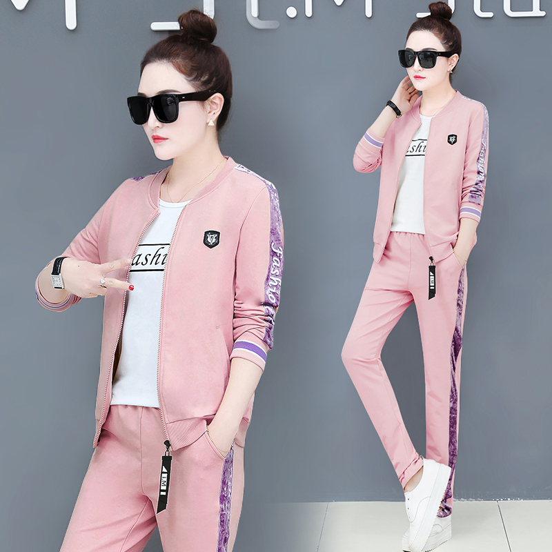 YICIYA Pink Striped 3 2 Piece Set Women Co-ord Set Tracksuits Plus Size Outfit Sportswear 2019 Coats Shirt Pants Clothing Spring
