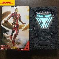 4 Avengers Infinity War Superhero Arc Reactor Statue Iron Man Bust With LED Light Head Portrait GK Action Figure Toy BOX Z440