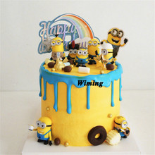 cake topper birthday minions toy cake decorating supplies children kids baby birthday gifts toys minions party cupcake toppers