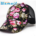 Brand new 2016 Summer Baseball Caps for Men Snapback Caps Women Mesh Breathable Casual Sport Adjustable Floral Hats Gift 1pcs
