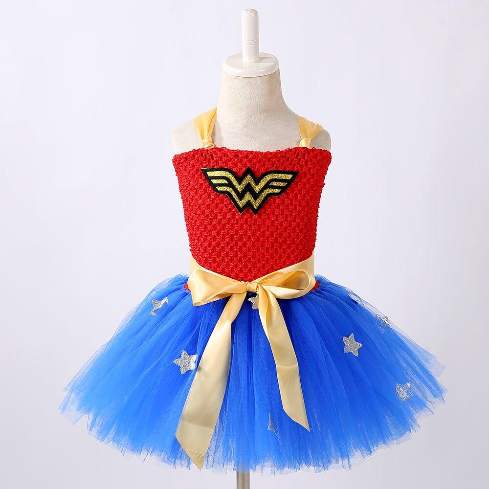 c0cc20ad1f Κορίτσια ' ρούχα 1 Set Wonder Woman Girl Tutu Dress Brave Super Girls  Superhero Hero Theme Birthday Party Dresses Halloween Costume For Kids