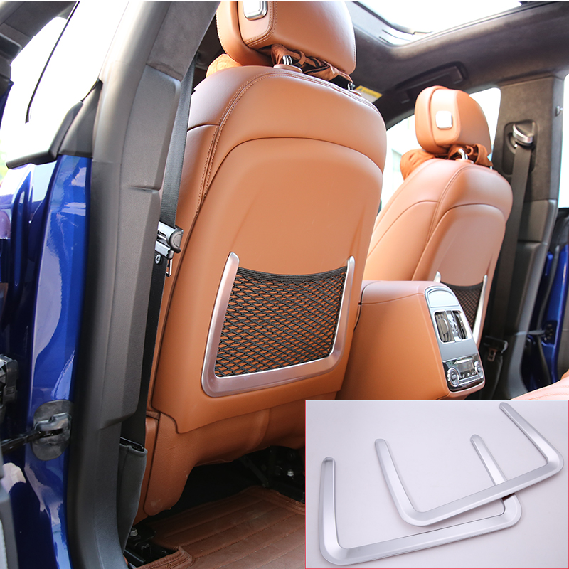 цена на 2 Color ABS Plastic Car Rear Row Back Seat Net Bag Frame Trim Fit For Maserati Ghibli For Levante Car Accessories