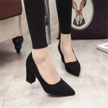 2019 spring and autumn new fashion pointed shallow mouth women's shoes